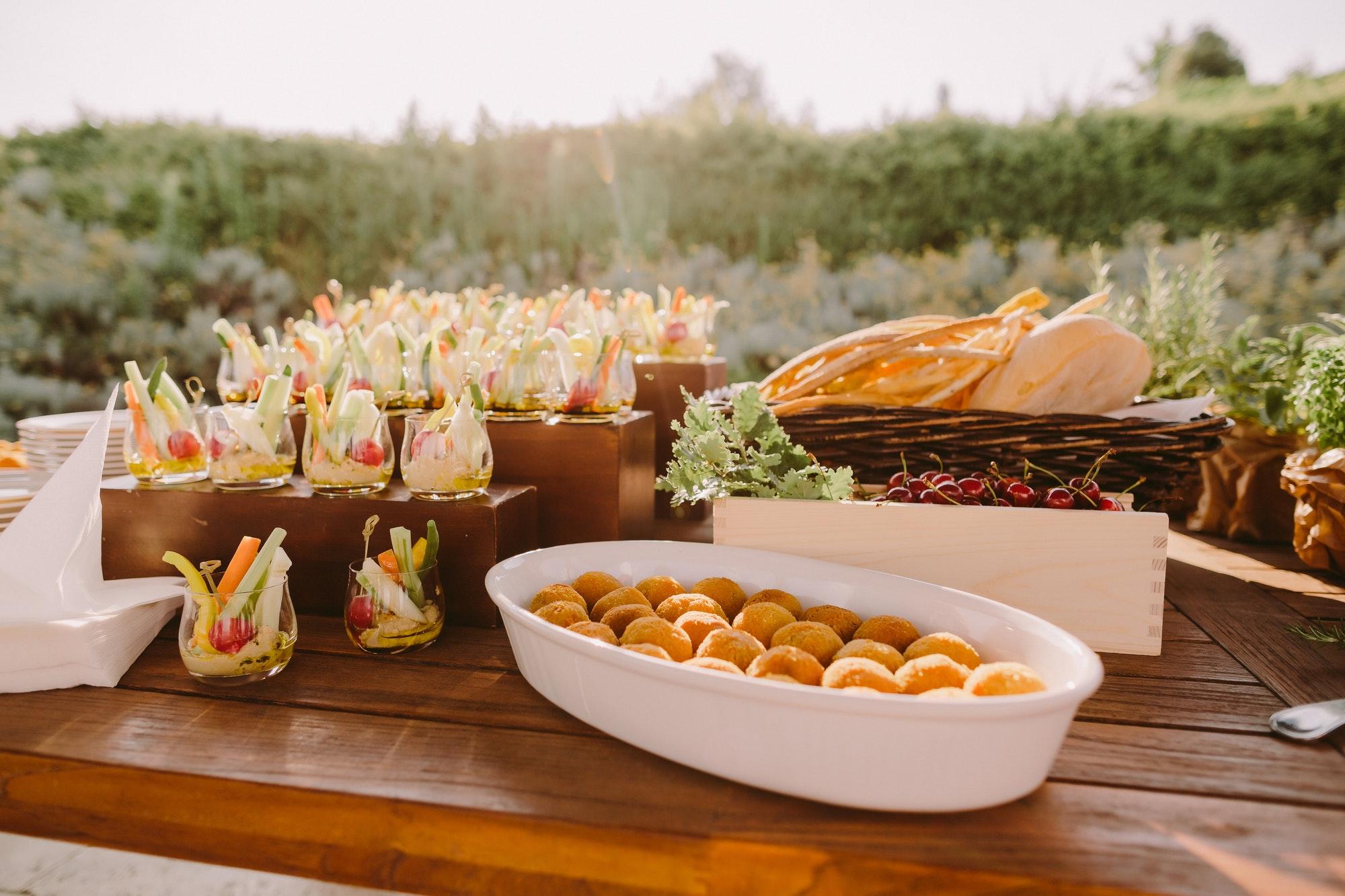 vegetarian appetizer food summer table italian style