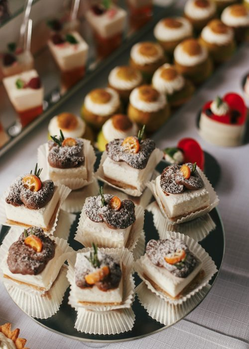 Luxury catering concept. Delicious candy bar